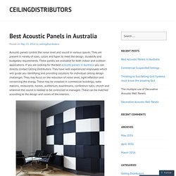Best Acoustic Panels in Australia