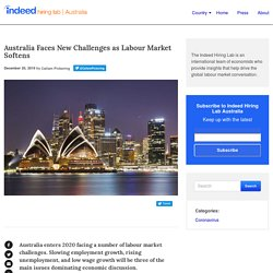 Australia Faces New Challenges as Labour Market Softens - Indeed Hiring Lab Australia