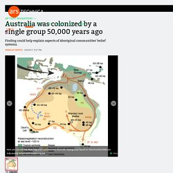 Australia was colonized by a single group 50,000 years ago