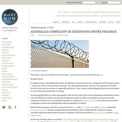 Australia's complicity in detention centre violence - Right NowHuman Rights in Australia
