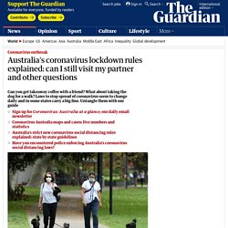 Australia's coronavirus lockdown rules explained: can I still visit my partner and other questions