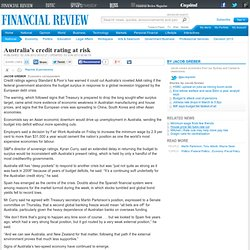 Australia's credit rating at risk?