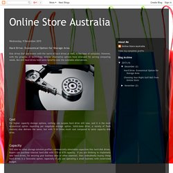 Online Store Australia: Hard Drive- Economical Option for Storage Area