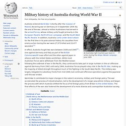 Military history of Australia during World War II - Wikipedia, the free encyclopedia