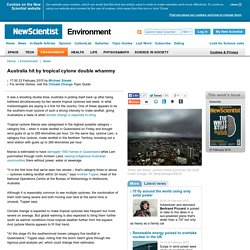 Australia hit by tropical cylone double whammy - environment - 23 February 2015