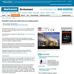 Australia's shiny new carbon tax is an empty promise - environment - 11 July 2011