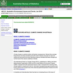 4613.0 - Australia's Environment: Issues and Trends, Jan 2010