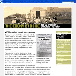 WWI Australia's home front experience