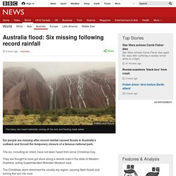 Australia flood: Six missing following record rainfall