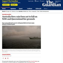 Australia fires: rain forecast to fall on NSW and Queensland fire grounds