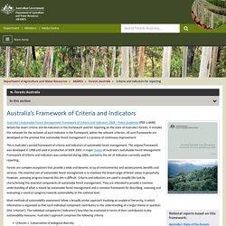 Forests Australia Australia's Framework of Criteria and Indicators