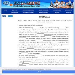 AUSTRALIA - Gap Filling Exercise