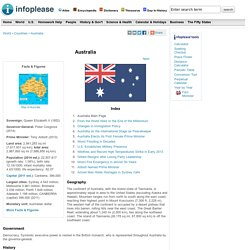 Australia: Maps, History, Geography, Government, Culture, Facts, Guide & Travel/Holidays/Cities