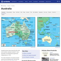 Australia Map / Map of Australia - Facts, Geography, History of Australia