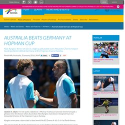 Australia beats Germany at Hopman Cup