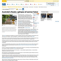 Australia's floods a glimpse of warmer future