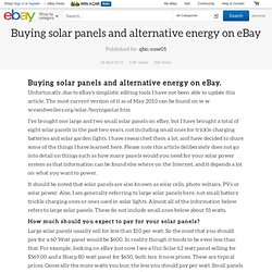 eBay Australia Guides - Buying solar panels and alternative energy on eBay