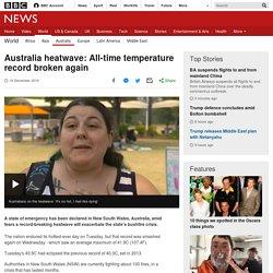 Australia heatwave: All-time temperature record broken again