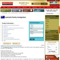 Australia Family Immigration