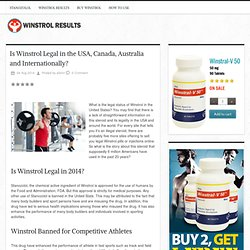 Is Winstrol Legal in the USA, Canada, Australia and Internationally?