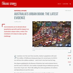 Australia's urban boom: the latest evidence