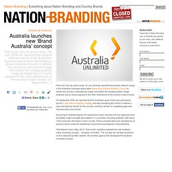 Nation Branding » Australia launches new 'Brand Australia' concept