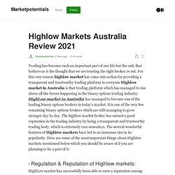 Highlow Markets Australia Review 2021