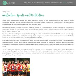 Australia sport yoga meditation teaching training