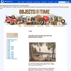The First Fleet - Australia's migration history timeline