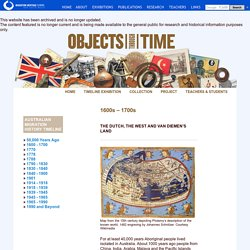 Dutch explorers - Australia's migration history timeline