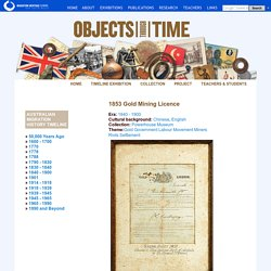 Australia's migration history timeline