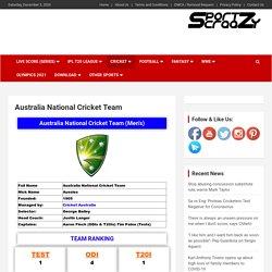Australia National Cricket Team: Captains, Players, Coaches, Schedule, Jersey