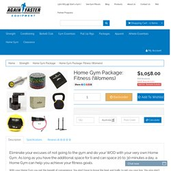Again Faster Australia Home Gym Package: Fitness