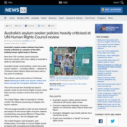 Australia's asylum seeker policies heavily criticised at UN Human Rights Council review