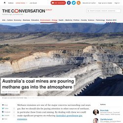 Australia's coal mines are pouring methane gas into the atmosphere