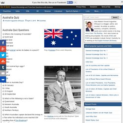 Australia Trivia Quiz Questions and Answers