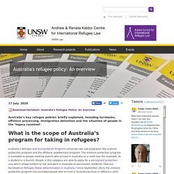 Australia's refugee policy: An overview