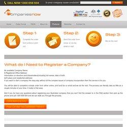 Company Name Registration Online