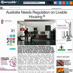 Australia Needs Regulation on Livable Housing