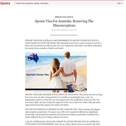 Spouse Visa For Australia: Removing The Misconceptions
