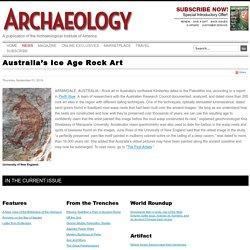 Australia's Ice Age Rock Art