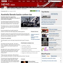 Australia Senate backs carbon tax