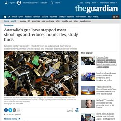 Australia's gun laws stopped mass shootings and reduced homicides, study finds