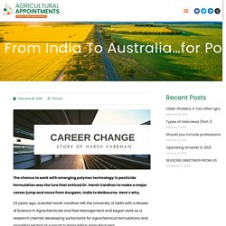 From India to Australia…for polymer technology research
