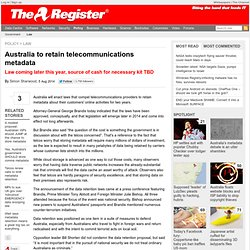 Australia to retain telecommunications metadata