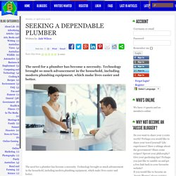 Blog Australia - Thinking Out Loud - Seeking a Dependable Plumber