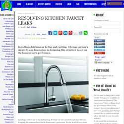 Blog Australia - Thinking Out Loud - Resolving Kitchen Faucet Leaks