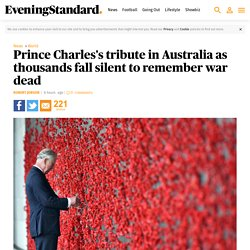 Prince Charles's tribute in Australia as thousands fall silent to remember war dead