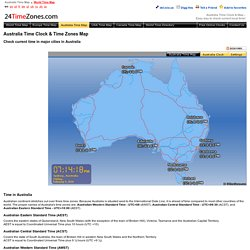 Australia Time Clock & Map - Check Time in Australia