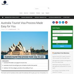 Australia Tourist Visa Process Made Easy for You